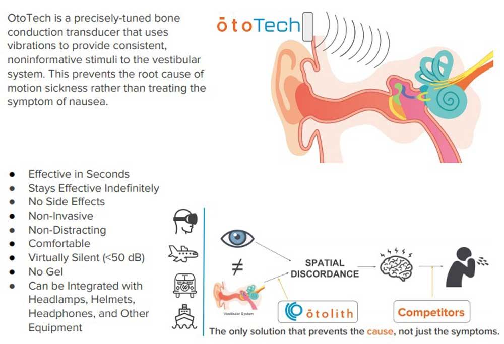 Die Vibration soll die Verbindung zwischen Sicht und Gleichgewichtsorgan überschreiben. Bild: Ototech