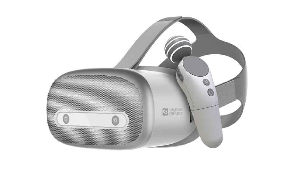 VR-Brille und Controller bieten Raumtracking. Bild: Shadow Creator