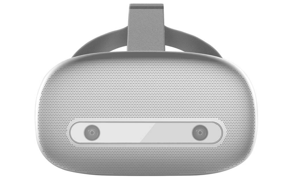 Die Vorderseite der Shadow-Brille mit eingelassenen Stereokameras. Bild: Shadow Creator