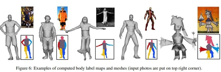 3D-Modelle inklusive der Segementierung. Als Vorlage reicht ein einzelnes Foto aus dem Internet. Bild: Universität Washington Seattle