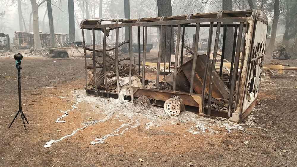 Camp Fire war der verheerendste Waldbrand in der Geschichte Kaliforniens. Ein 360-Grad-Video zeigt das Ausmass der Zerstörung.