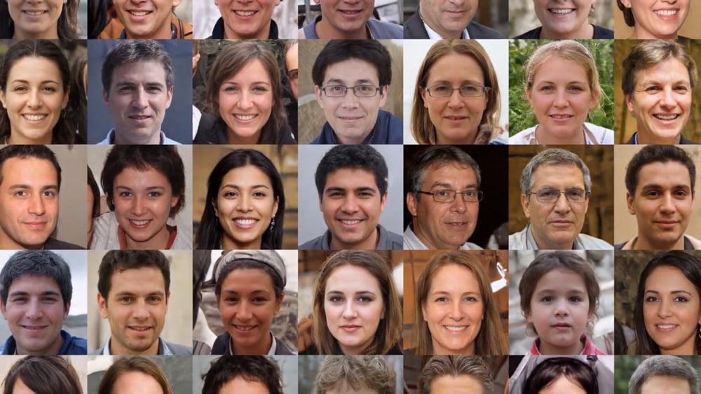 Nvidias Fake-Foto-KI erfindet neue Menschen