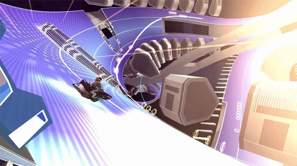 Ihr wollt auf einem Hoverbike mit 500 km/h eine futuristische Rennbahn hinunterjagen? Dann seid ihr bei Void Racer richtig.