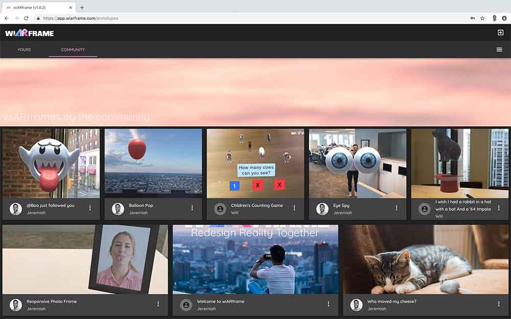 Das Startup Wiarframe möchte das Erstellen von AR-Erfahrungen demokratisieren, sodass selbst Laien AR-Anwendungen erstellen können.