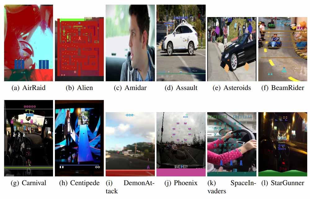 Das Video im Hintergrund brachte die Algorithmen für bestärkendes Lernen völlig aus dem Tritt. Bild: Facebook
