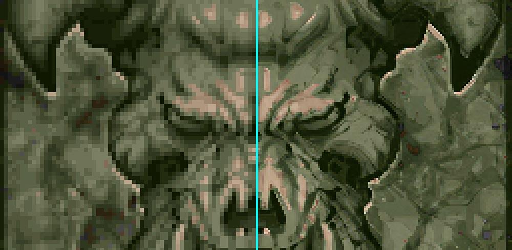 Doom KI-Edition: Aus Pixelbrei wird hochaufgelöster Pixelbrei.