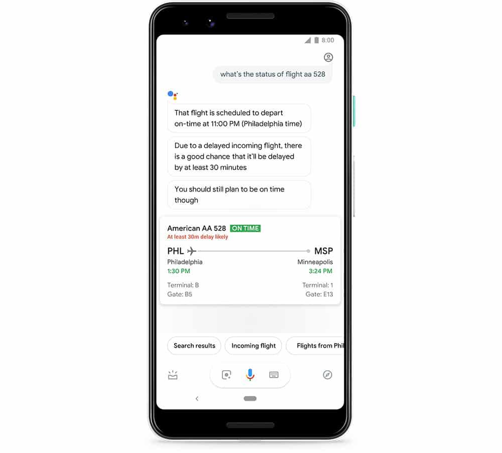 Googles KI soll aus Big Data sogar ableiten können, wie realistisch eine Flugverspätung ist. Bild: Google
