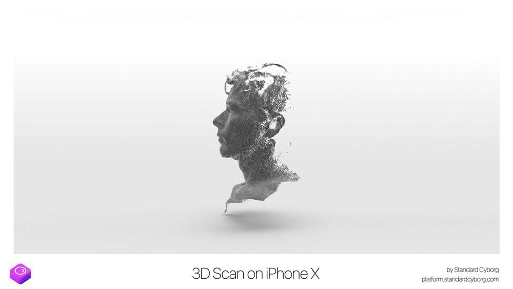 """Mit der """"Truedepth""""-Kamera des iPhone X und der App """"Capture"""" könnt ihr euch selbst in 3D einscannen."""