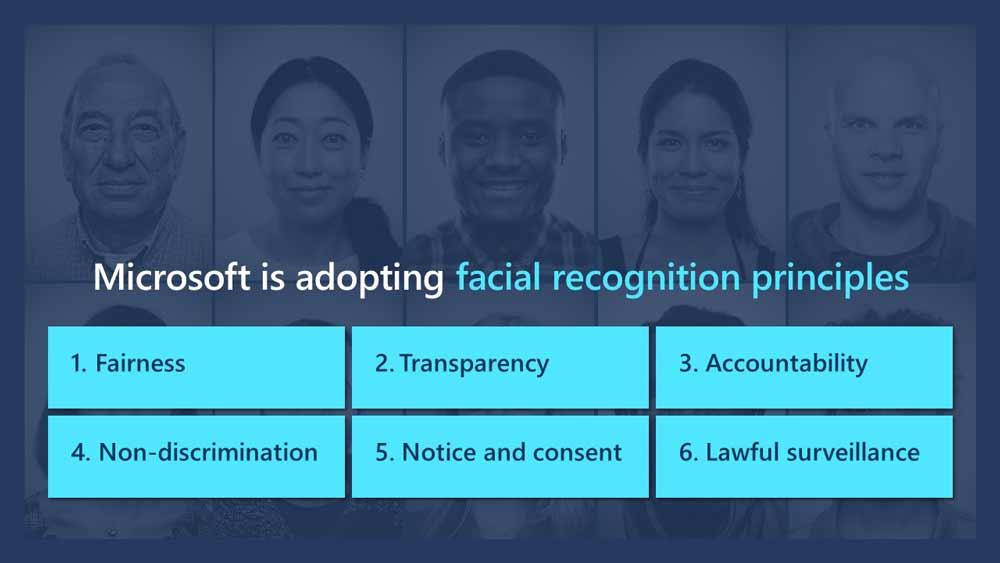 Microsoft will sich der Gefahren von Gesichtserkennungstechnologie bewusst sein. In Zukunft will der Konzern allerdings keine Verantwortung mehr für externen Firmen übernehmen, die mit Microsofts finanzieller Hilfe Gesichtserkennung entwickeln. Bild: Microsoft