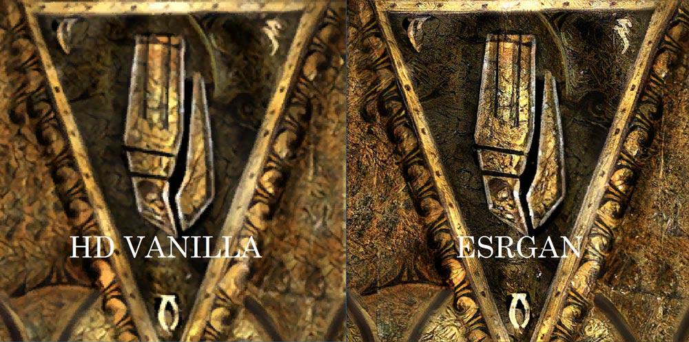 Die niedrig aufgelösten Texturen werden durch zusätzliche Details aufgewertet, anstatt einfach nur aufgeblasen.