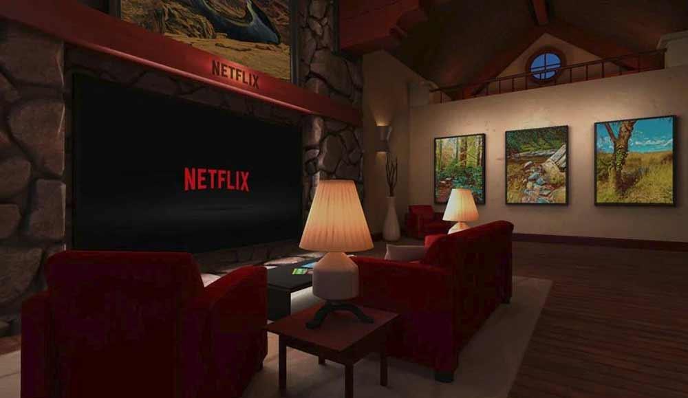 Praktisch für unterwegs: Das Netflix-VR-Kino. Bild: Netflix