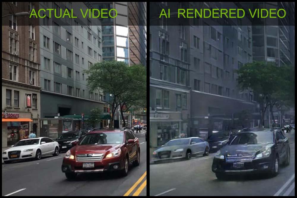 Nvidia zeigt, wie Künstliche Intelligenz die Computergrafik revolutionieren könnte.
