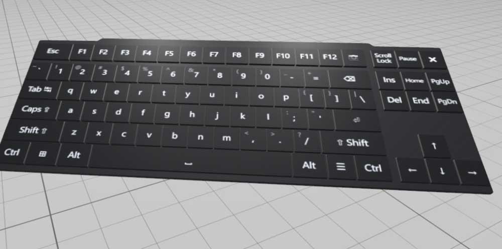 Das neue Keyboard übernimmt reale Tastatureingaben und -layouts. Bild: Oculus