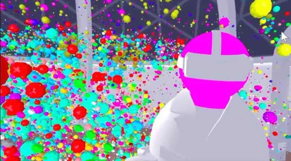 Einzelne Krebszellen werden in 3D digital visualisiert und können in einem VR-Labor untersucht werden.