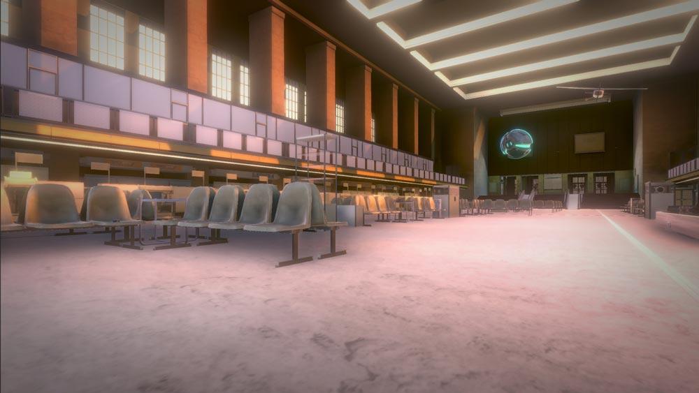 Die VR-Rekonstruktion der Abflughalle. Bild: ZDF