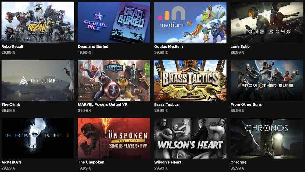 """Unter den """"Oculus Originals"""" findet man ab sofort (alle) Titel, deren Entwicklung von Facebook finanziert oder gefördert wurde."""