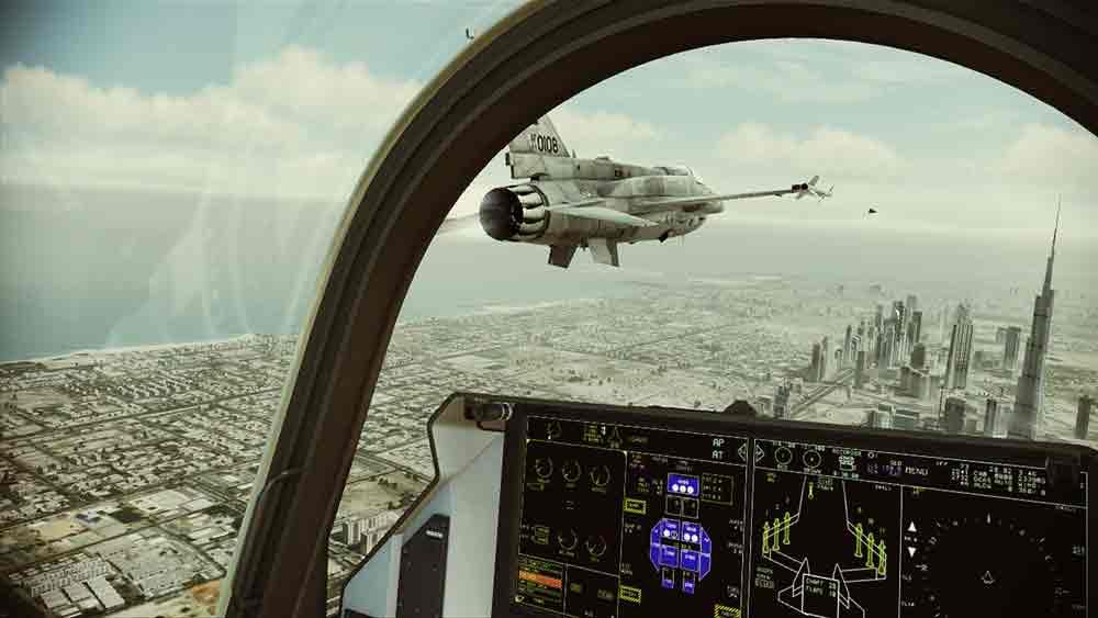 Die VR-Missionen in Ace Combat sind bombastisch inszeniert - aber leider ziemlich kurz. Dennoch reicht es für den zweiten Platz in der PSVR-Bestenliste 2019. Bild: Bandai Namco