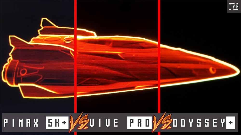 Der YouTuber Tyriel Wood zeigt die Displays der VR-Brillen Pimax 5K+, Vive Pro und Odyssey+ in einem ausführlichen Vergleichsvideo.