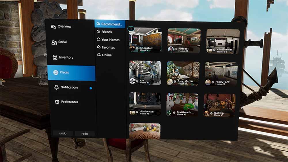 In öffentlichen VR-Wohnungen kann man nach Einrichtungsideen stöbern oder neue Leute treffen. Bild: Oculus