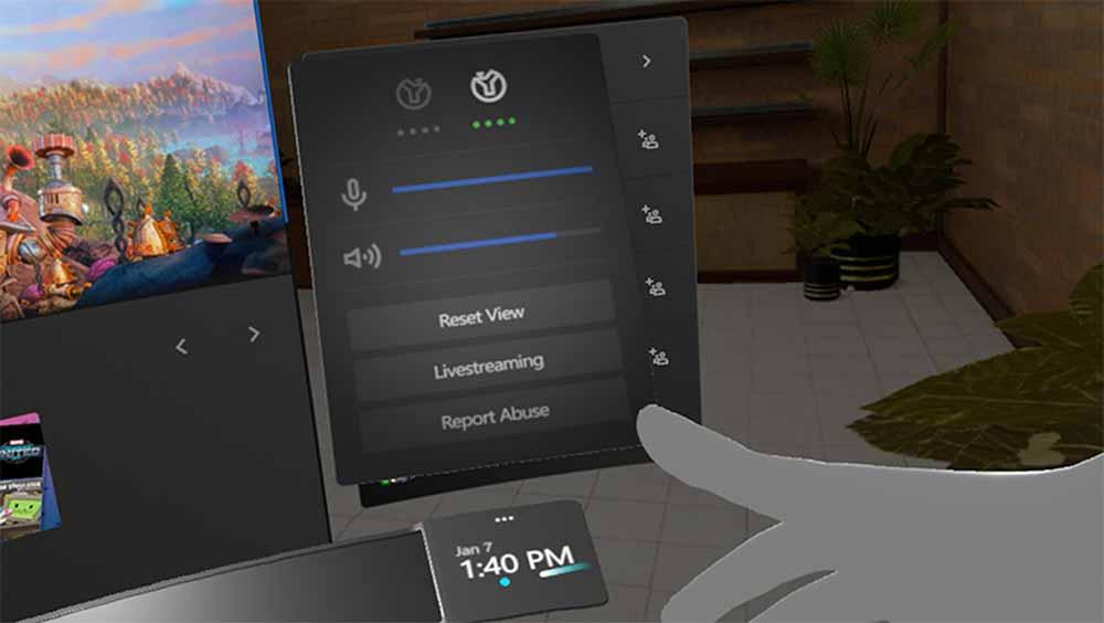 Hier startet man das Facebook Live-Streaming. Bild: Oculus