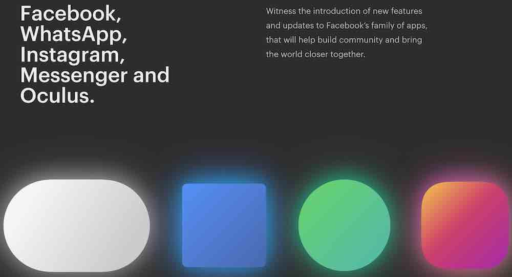 """Auf der offiziellen Internetseite verspricht Facebook """"neue Features und Updates"""" für die Kernplattformen des Unternehmens, darunter Oculus."""