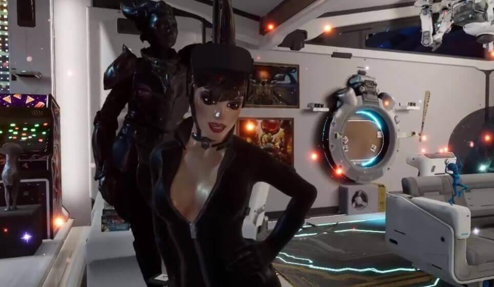 Cat Woman mit VR-Brille gibt's wohl nur in Oculus Home.