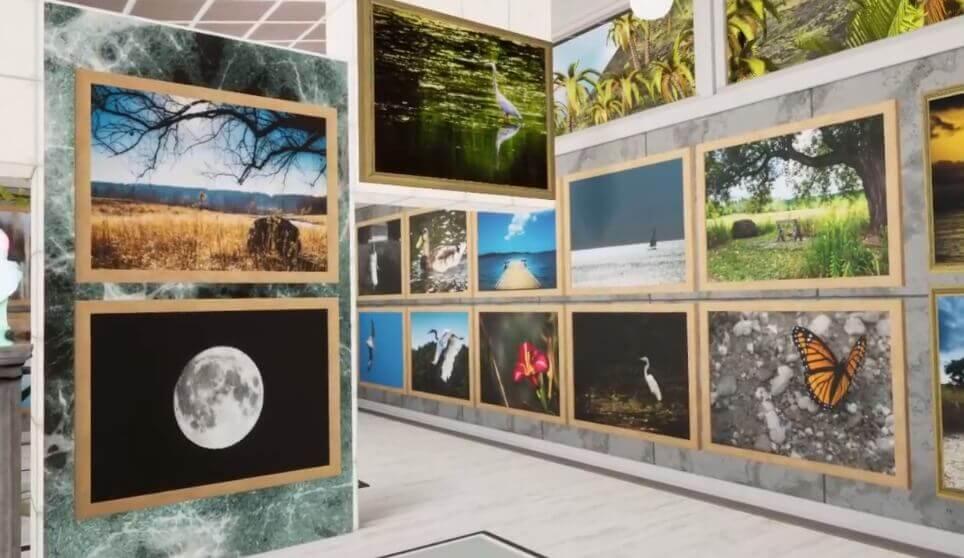 Clever: Ein Fotograf nutzt Oculus Home als virtuelle Ausstellungsfläche für seine Aufnahmen.
