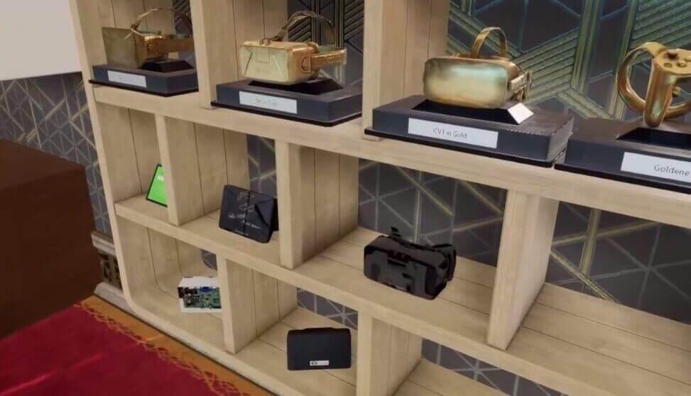 Jemand sammelt goldene Oculus-Rift-Brillen und Prototypen samt Unterschriften ...