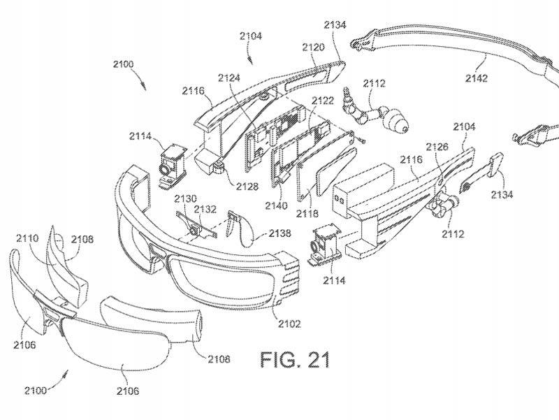 Microsofts Next-Gen-AR-Brille zerlegt in ihre Einzelteile. Bild: Microsoft