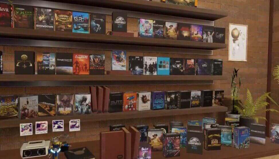 Hier präsentiert ein Nutzer seine besonders umfangreiche Videospielsammlung.