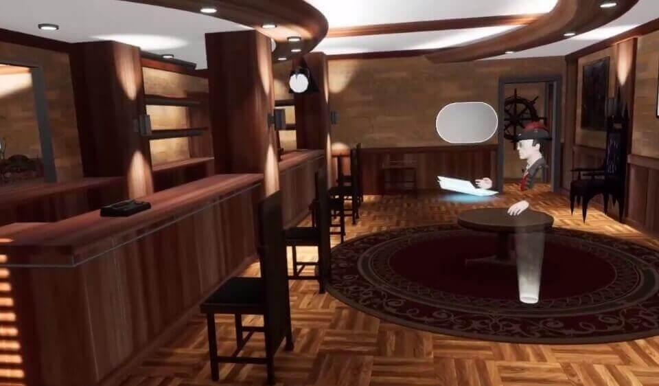 Ein Nutzer erfüllt sich virtuell den Traum einer eigenen Bar.