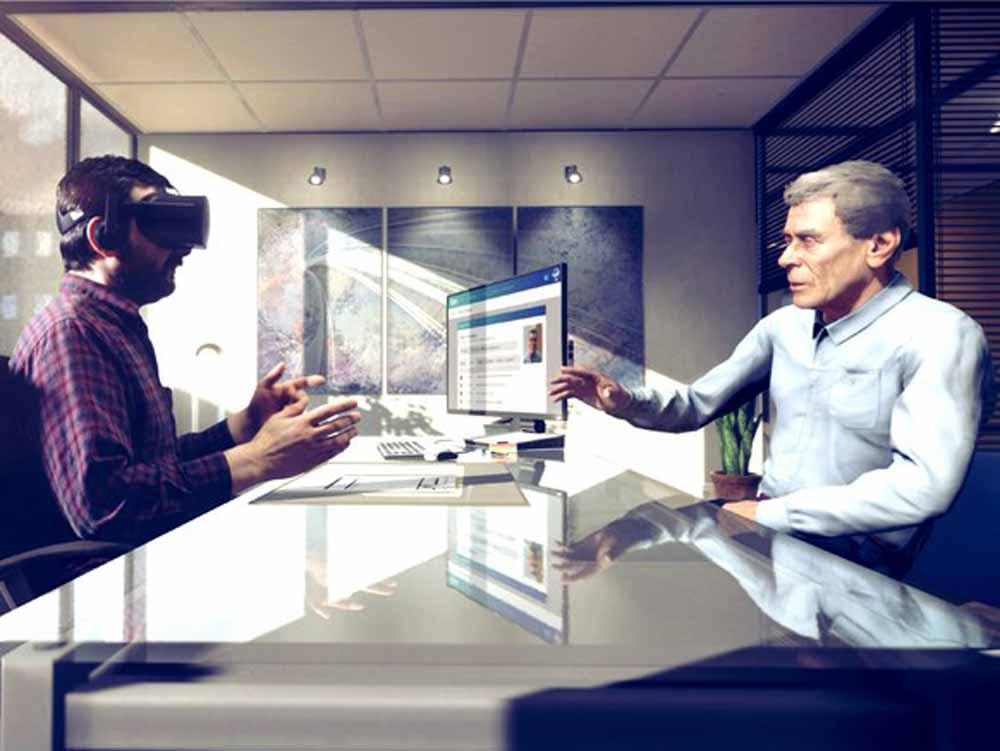 Bevor sie sich am realen Menschen versuchen, sollen Angestellte an einer virtuellen Person schwierige Gespräche üben und ihr Empathievermögen trainieren.