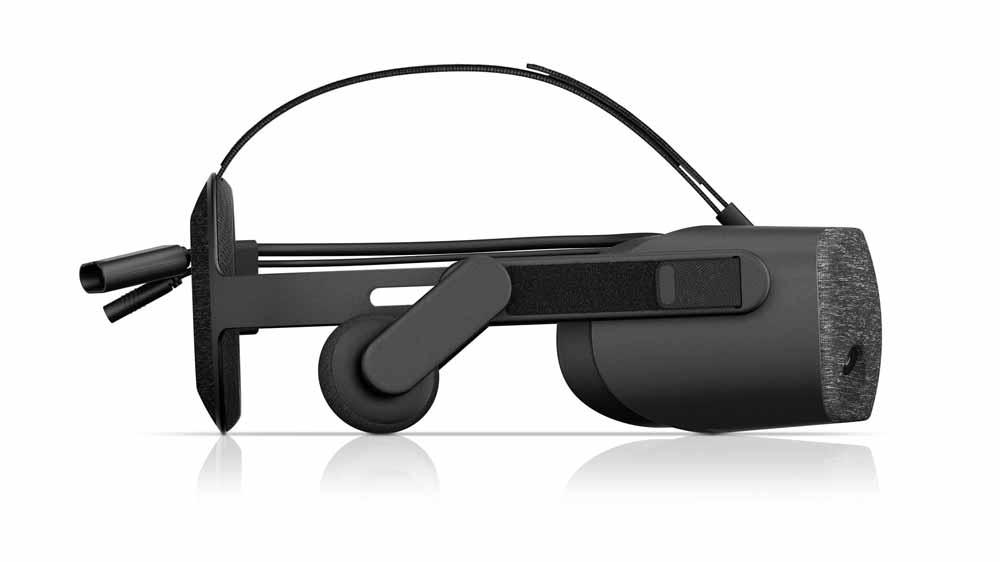 Im Profil erinnert das Reverb-Design stark an Oculus Rift. Bild: HP