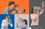 Nintendo bringt passend zur Papp-VR-Brille reichlich Papp-VR-Zubehör. Bild: Nintendo