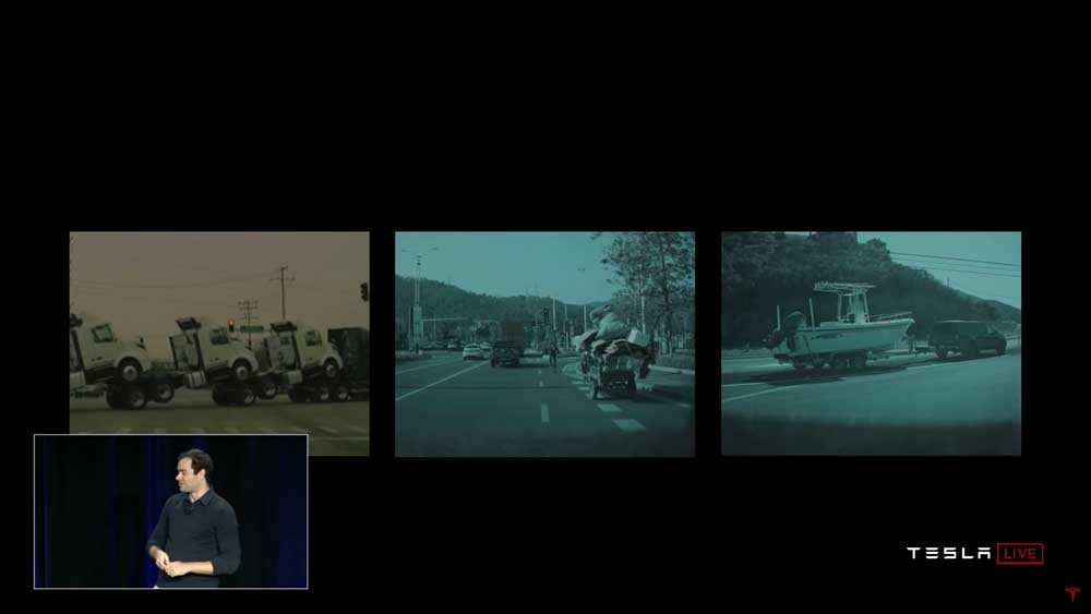 Die Komplexität des echten Straßenverkehrs - für jede Computer-Simulation eine Herausforderung. Bild: Tesla