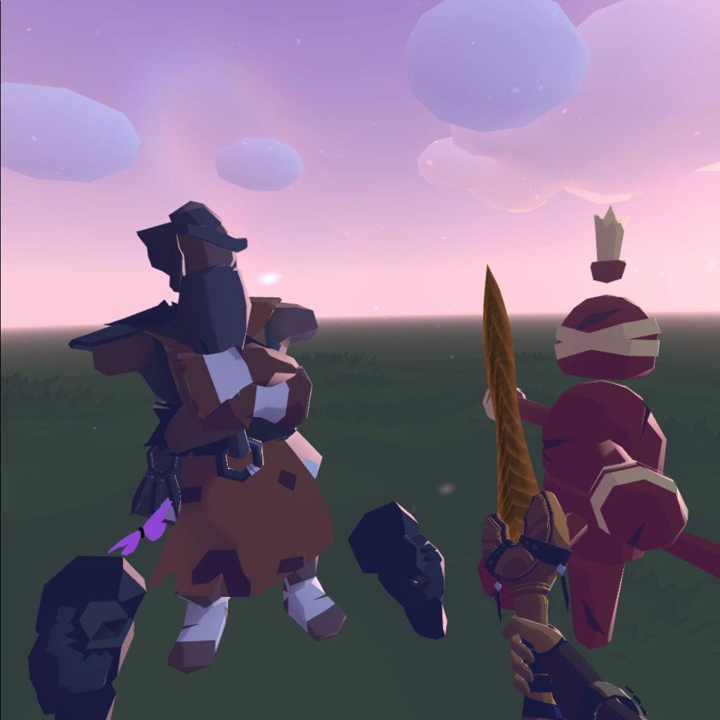 Viele Spiele wählen einen reduzierten Grafikstil, um den Smartphone-Chip der Quest-Brille nicht zu überfordern. Bild: Screenshot / Journey of the Gods