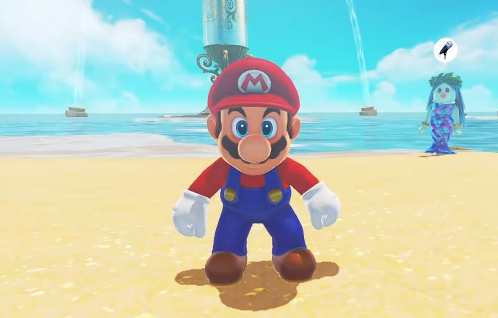 Auf Augenhöhe mit Super Mario: Das klappt nur in VR und sogar mit einer Pappbrille ganz ok. Bild: Nintendo / Screenshot