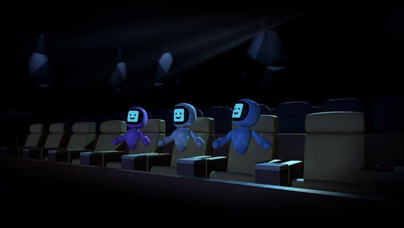 In Sonys VR-Kino gibt's zunächst nur für drei Avatare Platz. Bild: Sony