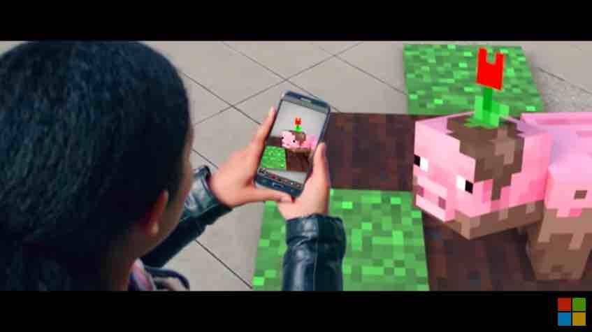 Microsoft überraschte die Zuschauer der gestrigen Keynote gleich zwei Mal: Mit einer unsichtbaren AR-Demo und einer AR-Version von Minecraft.