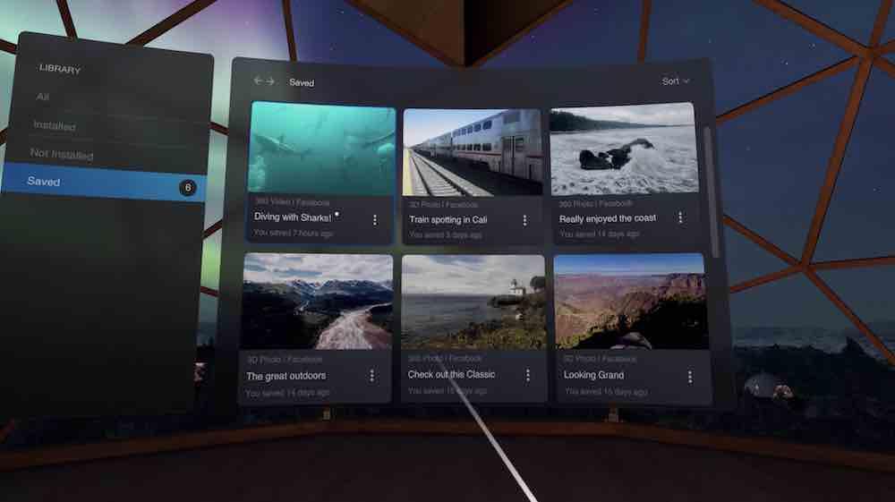 Man kann jetzt VR-Inhalte auf Facebook speichern und direkt in Oculus Go oder Oculus Quest anschauen.