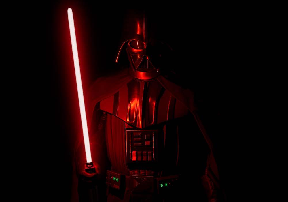 Vader Immortal Oculus Quest Test: Auge in Helm mit Darth Vader