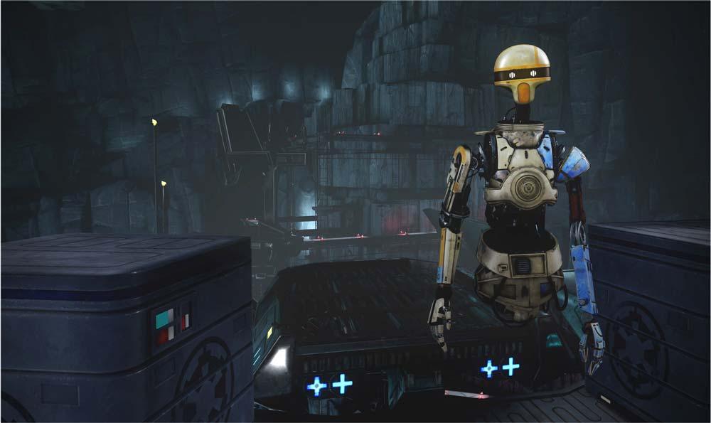 Falls ihr mal vergesst, wie man an einem Hebel zieht: Der Hilfsroboter ZOE erinnert euch daran. Bild: Disney