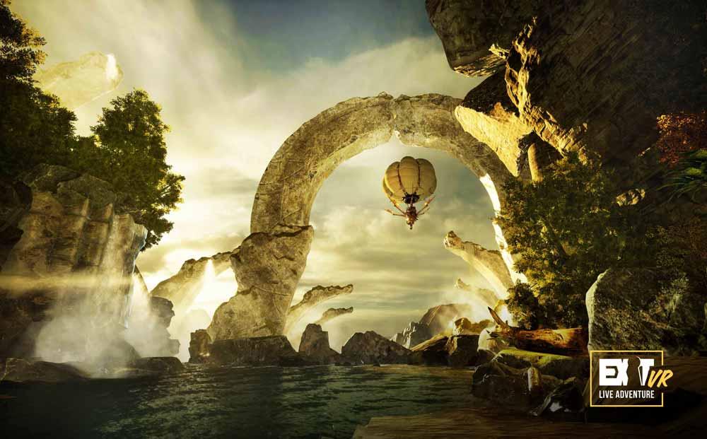 Im Anflug auf neue Welten. Bild: Exit VR