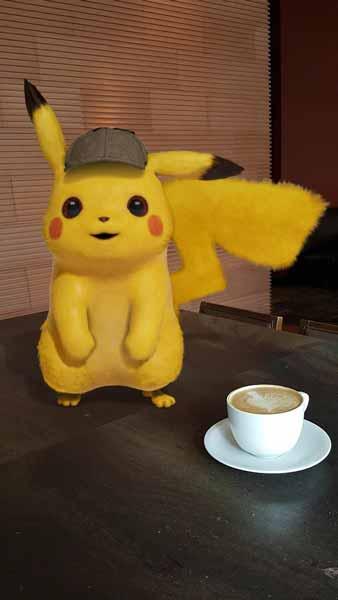 Pikachu und Co. reagieren auf Licht und den Smartphone-Nutzer. Bild: Google