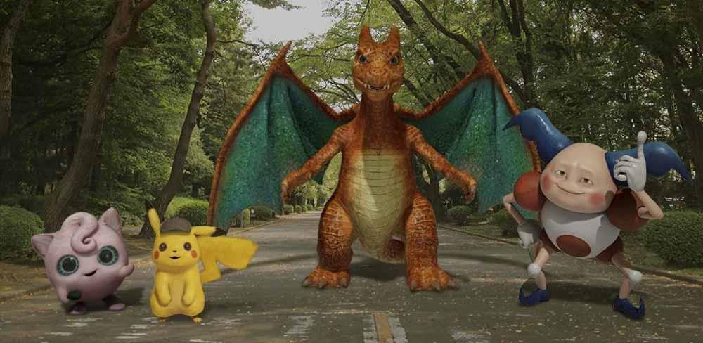 """Pikachu kommt ins Kino - und in Googles AR-Kamera """"Playground""""."""