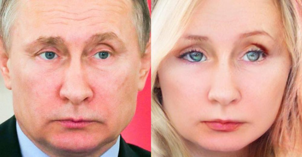 Putin als Frau - would still not date. Bild: 7spies.com