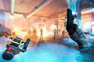 VR-Spiel After The Fall zeigt Waffe, Munition und Gegner in VR
