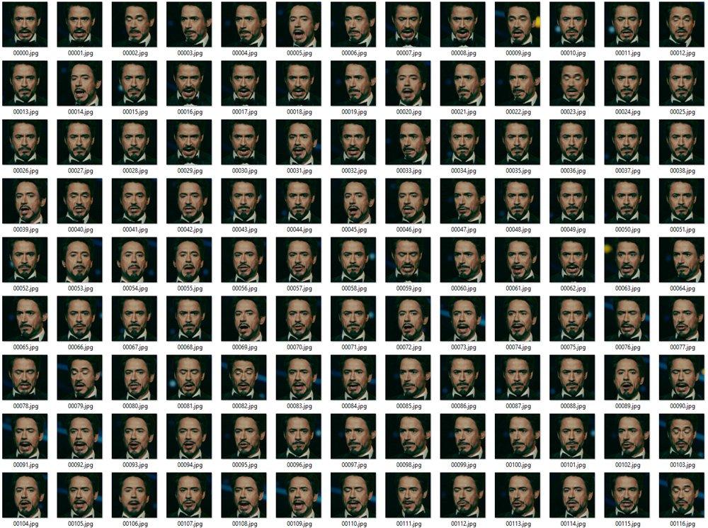 Deepfacelab Gesichtssammlung