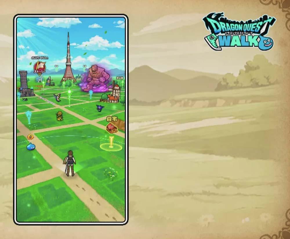 Die digitale Spielekarte wird über reale Straßenzüge gelegt. Hier startet die Augmented Reality. Bild: Square Enix