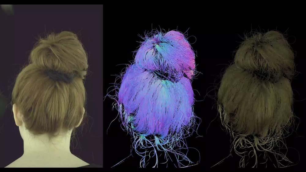 Noch verbesserungswürdig: Die realistische Darstellung menschlicher Frisuren in VR. Bild: Facebook